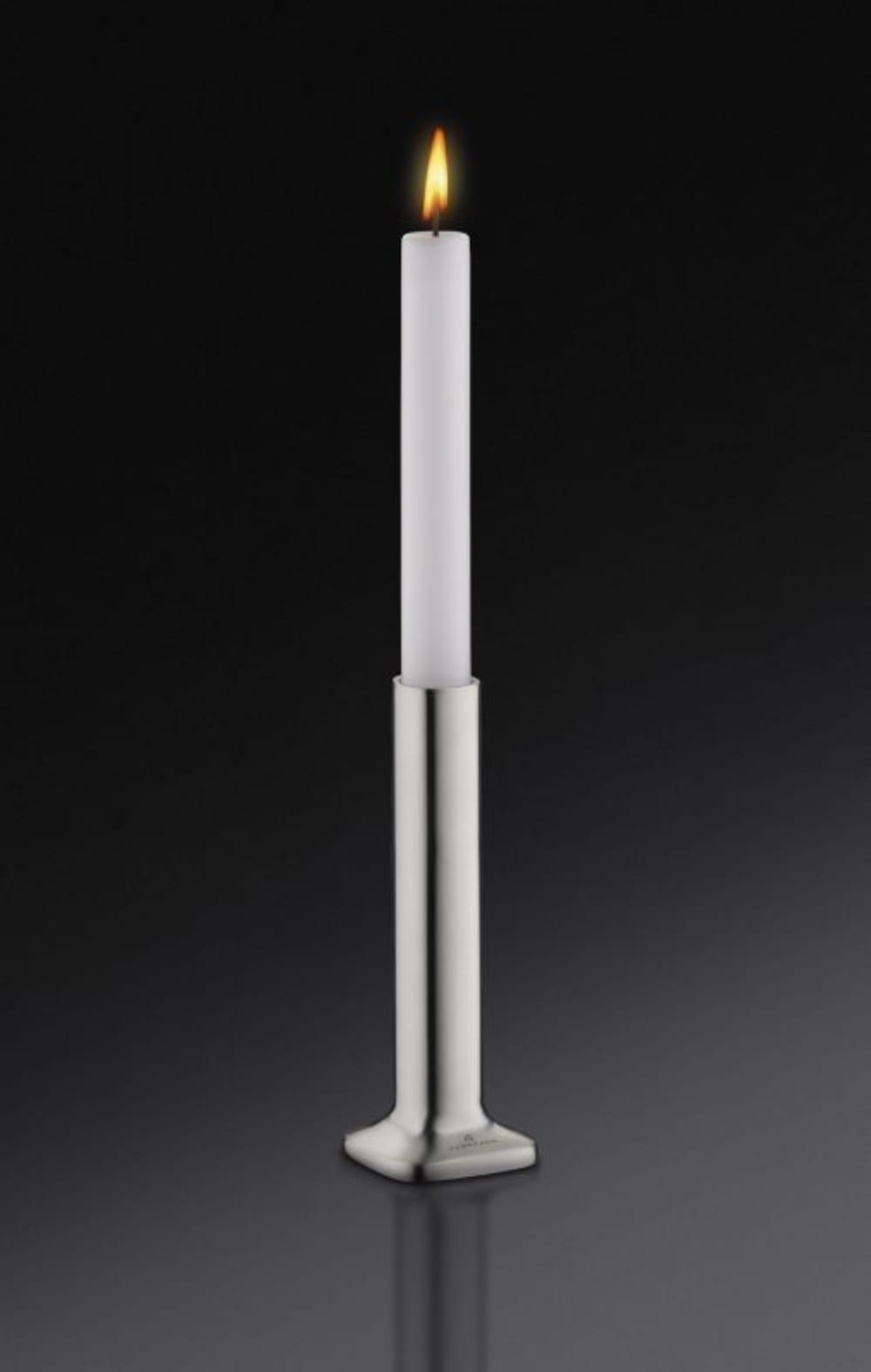 Auerhahn- Świecznik+świeca biała mat H15,bez opak.