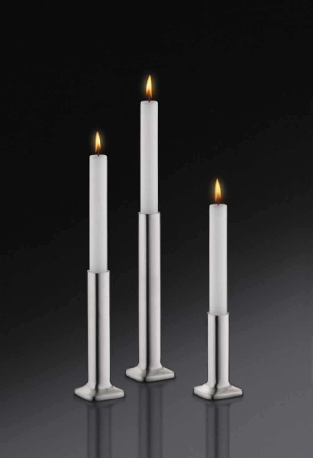 Auerhahn - Świecznik+świeca biała matH20, bez opak