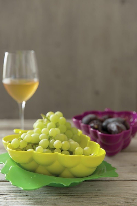 Zak! - Durszlak winogrono z podstawką, żółty