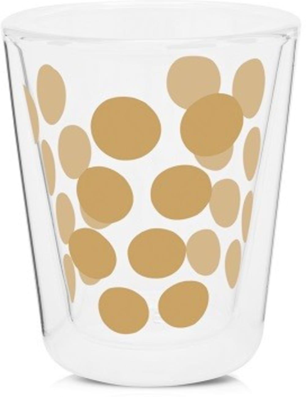 Zestaw 2 szklanek 200ml z łyżeczkami, złoty