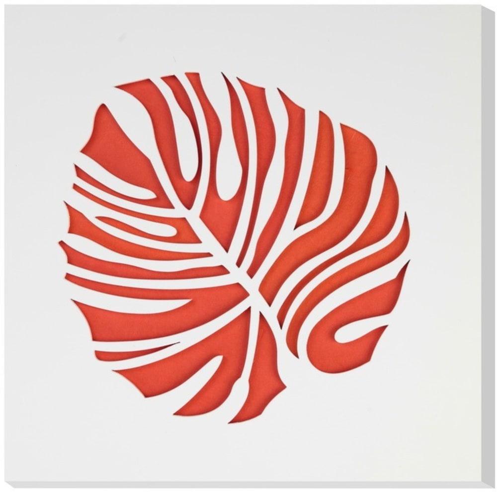 Obraz C-TRU pomarańczowy liść na białym tle Vialli Design
