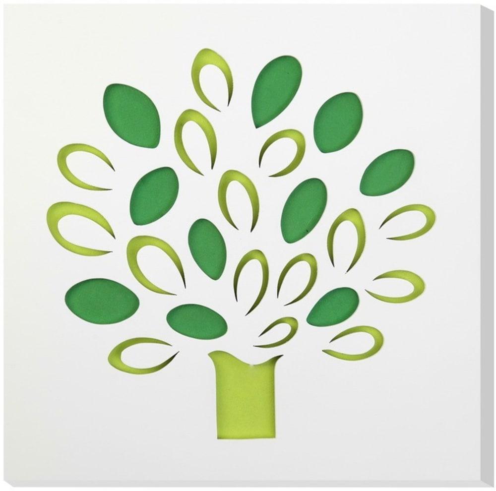 Obraz C-TRU kolorowe drzewo na białym tłe Vialli Design