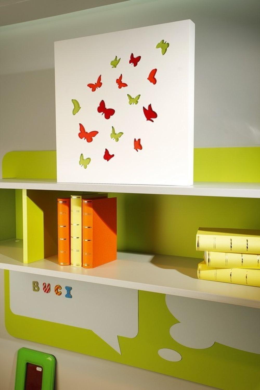 Obraz C-TRU kolorowe motyle na białym tle Vialli Design