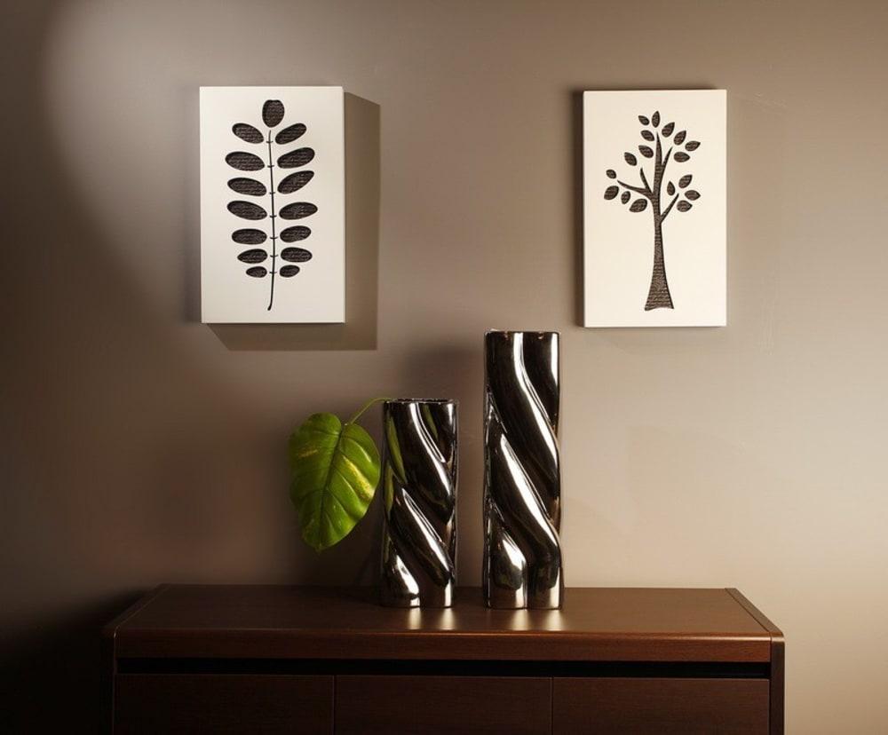 Obraz C-TRU liść na białym tle Vialli Design