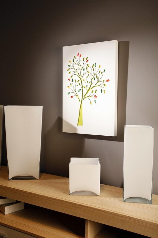 Obraz C-TRU  jesienne kolorowe drzewo na białym tle Vialli Design