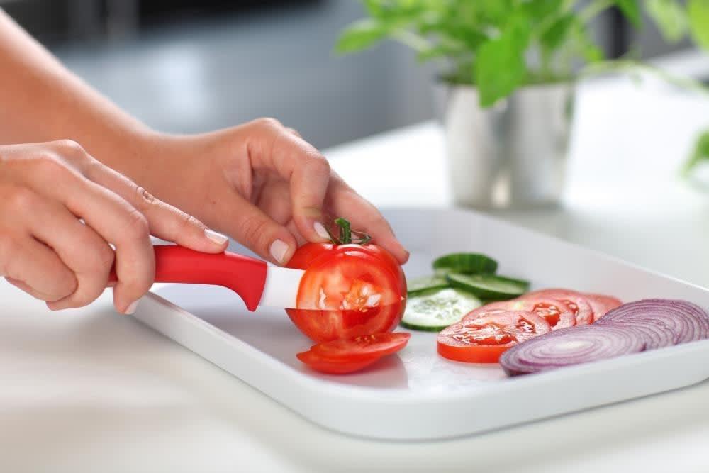 Nóż ceramiczny szefa kuchni czerwony 16 cm Vialli Design