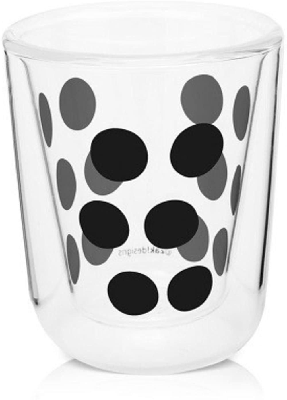 Zak! - Szklanka 75 ml z podw. ściankami, czarna