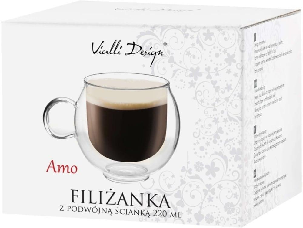 Vialli Design Filiżanka termiczna z podwójną termiczną Amo 220ml