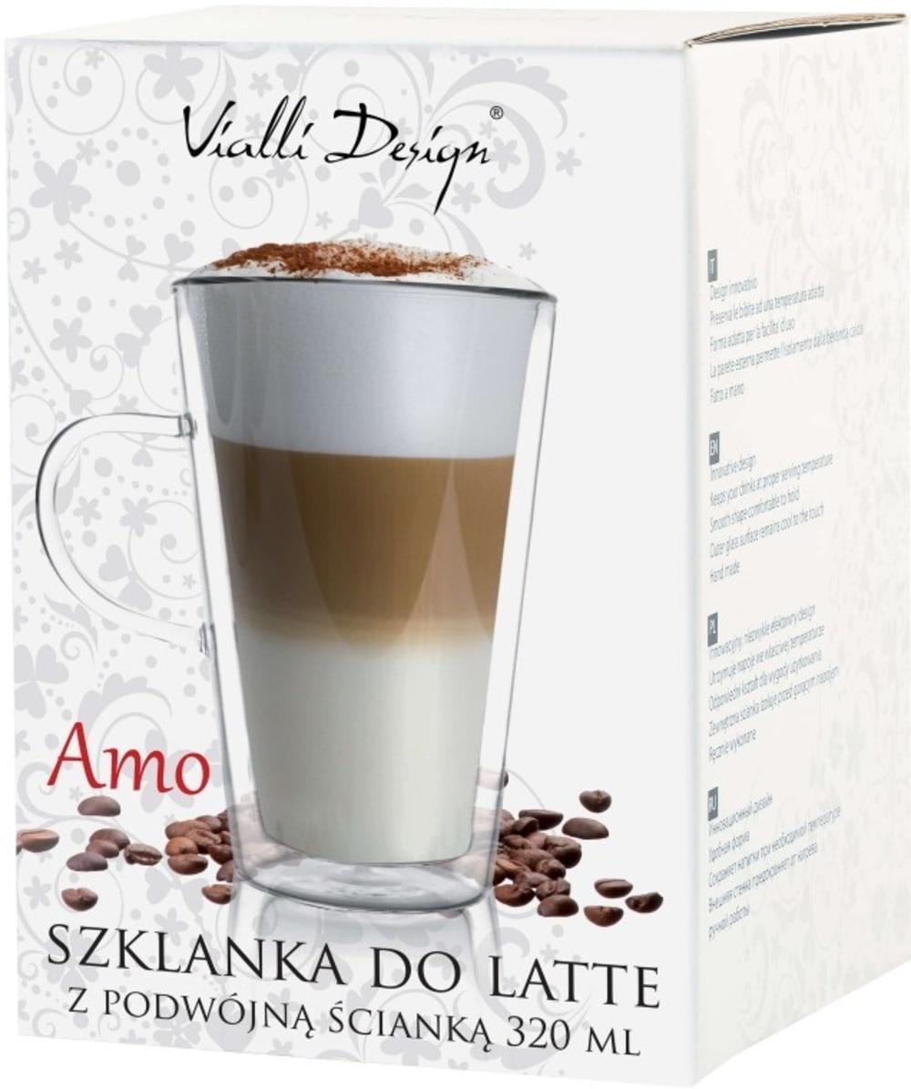 Vialli Design szklanka termiczna z podwójną ścianką Amo 320 ml