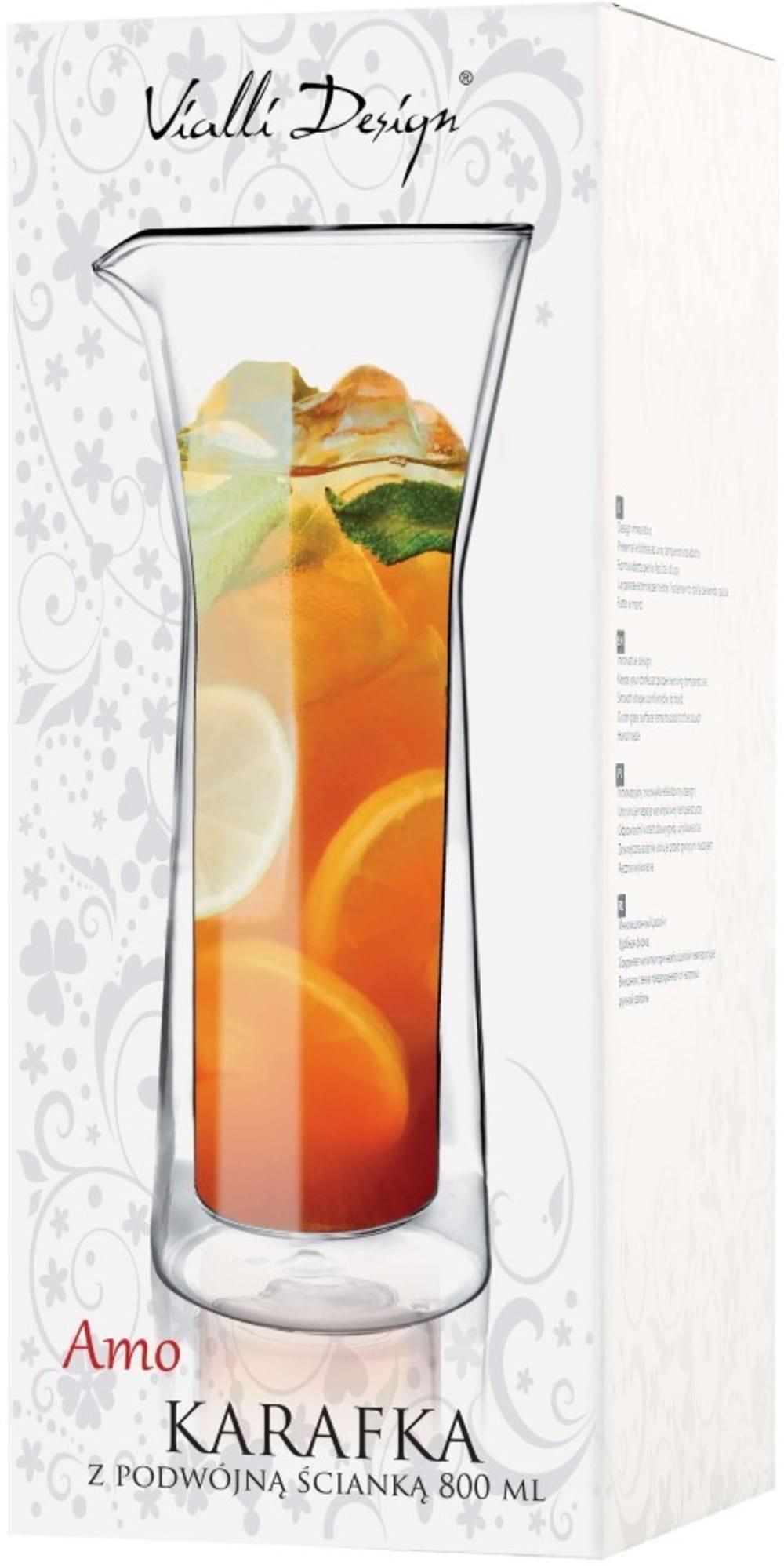 Vialli Design Karafka termiczna z podwójną ścianką Amo 0,8 l