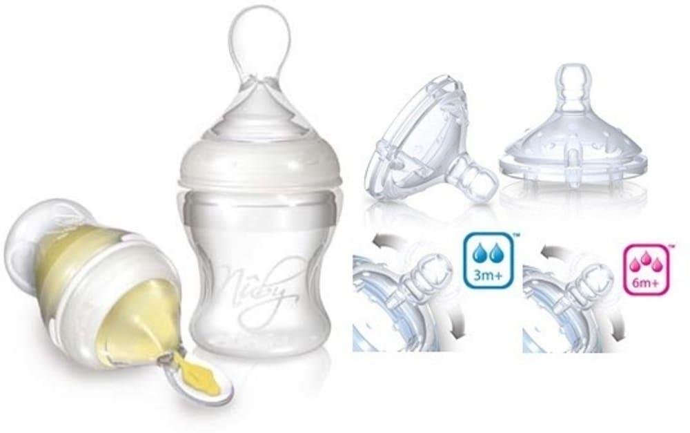 Zestaw do karmienia Infafeeder + smoczki na butelkę