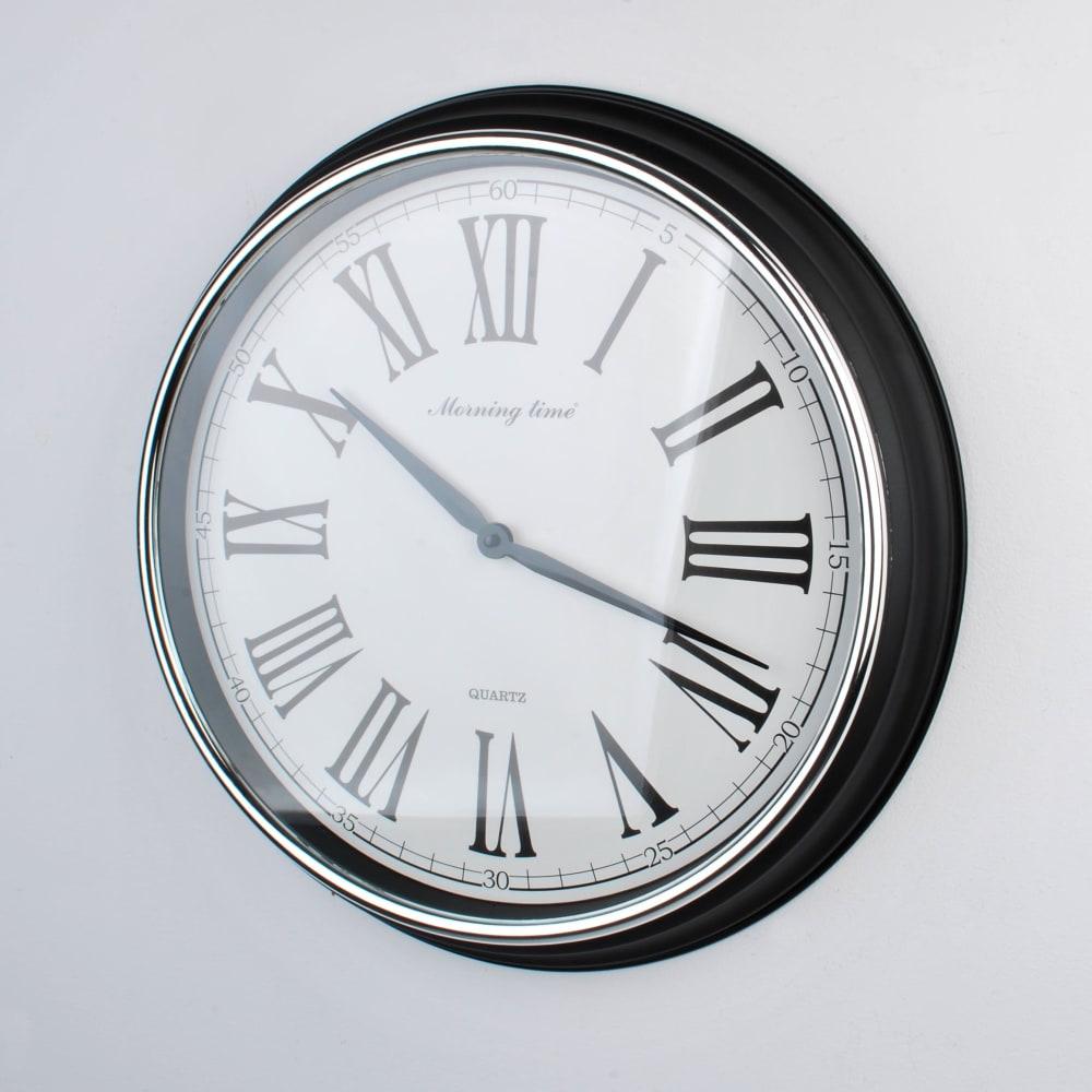 Zegar okrągły czarny 50,8x50,8x6,5 cm