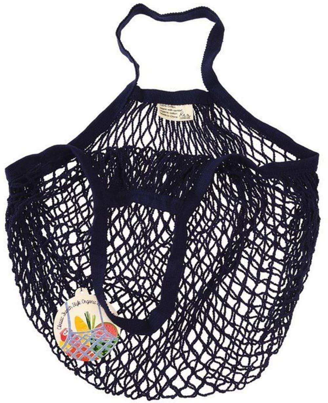 Siatkowa torba na zakupy Rex London granatowa