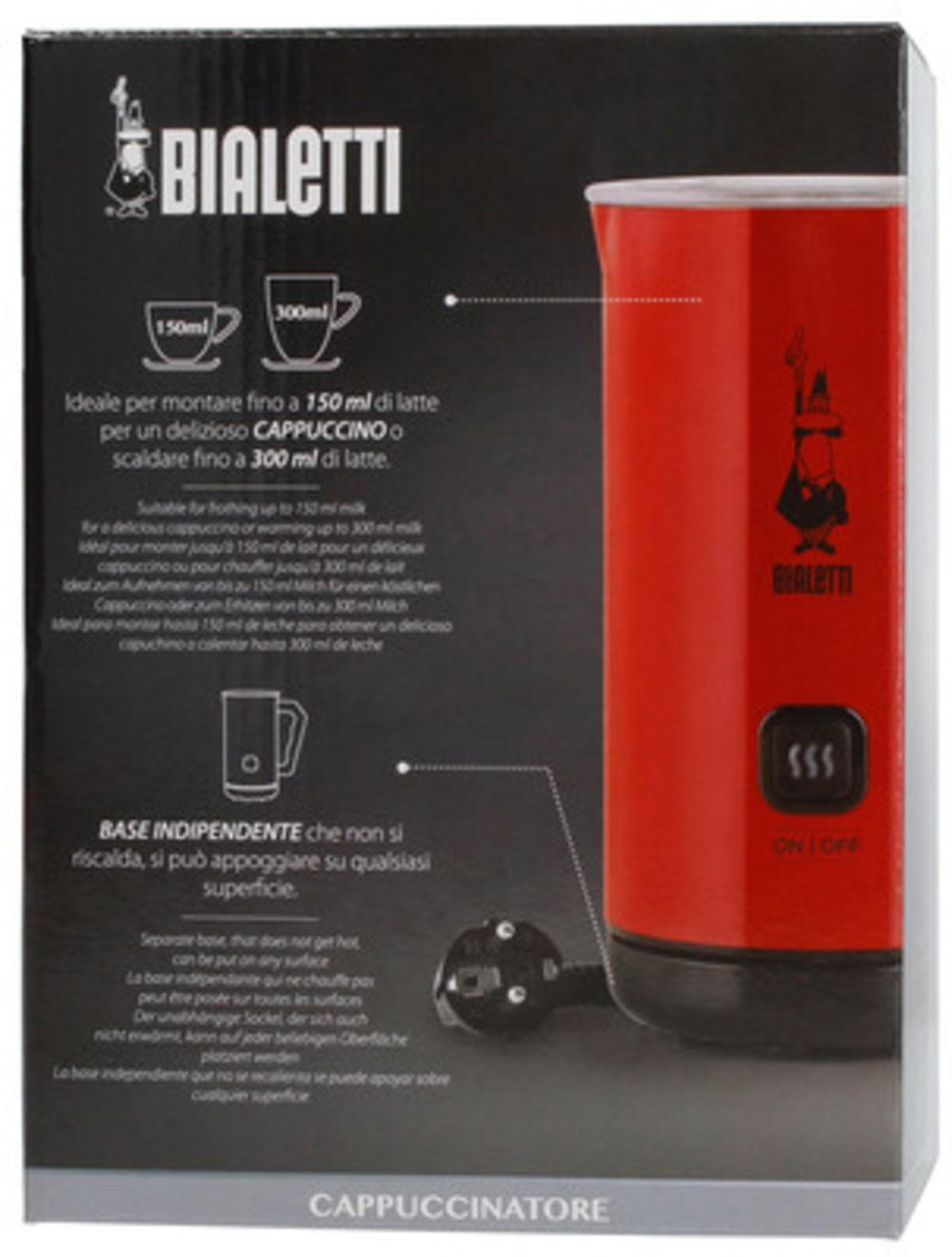 Elektryczny spieniacz do mleka Bialetti Milk Frother MKF02 Rosso - czerwony