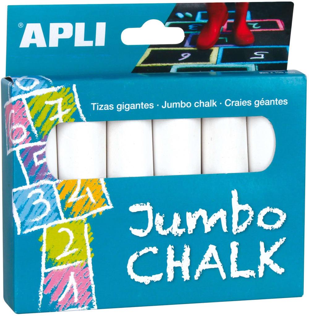 Kredy Białe Jumbo Apli Kids - 6 sztuk