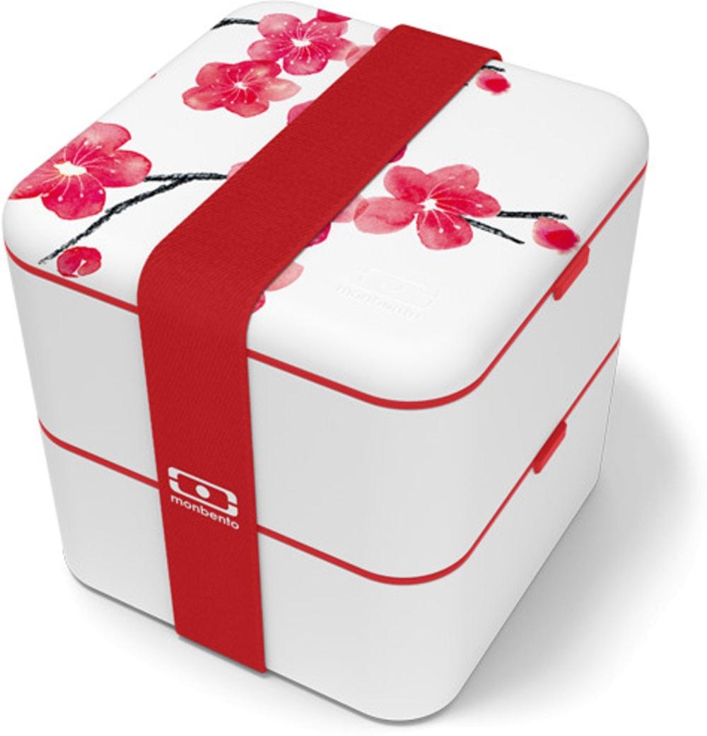MonBento Square Bento Box kwadratowy 2w1 Blossom