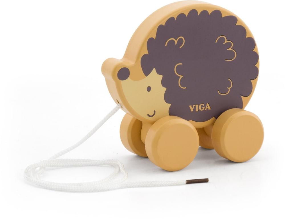 Zabawka drewniana. Jeż Januszek do ciągnięcia Viga