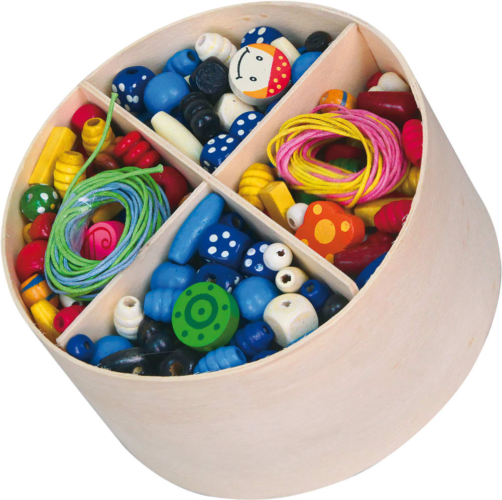 Zabawka drewniana. Kreatywny zestaw koralików do tworzenia biżuterii Viga