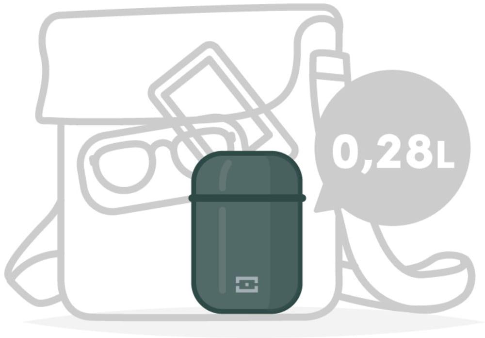 MonBento Termos obiadowy Element 650ml Onyx