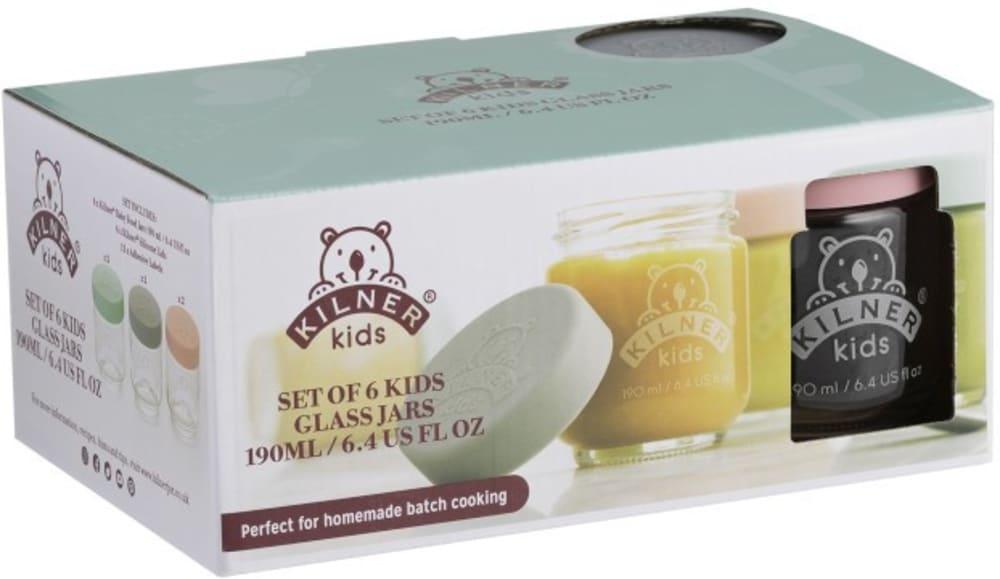 Zestaw 6 słoików na posiłki dla dzieci 190 ml