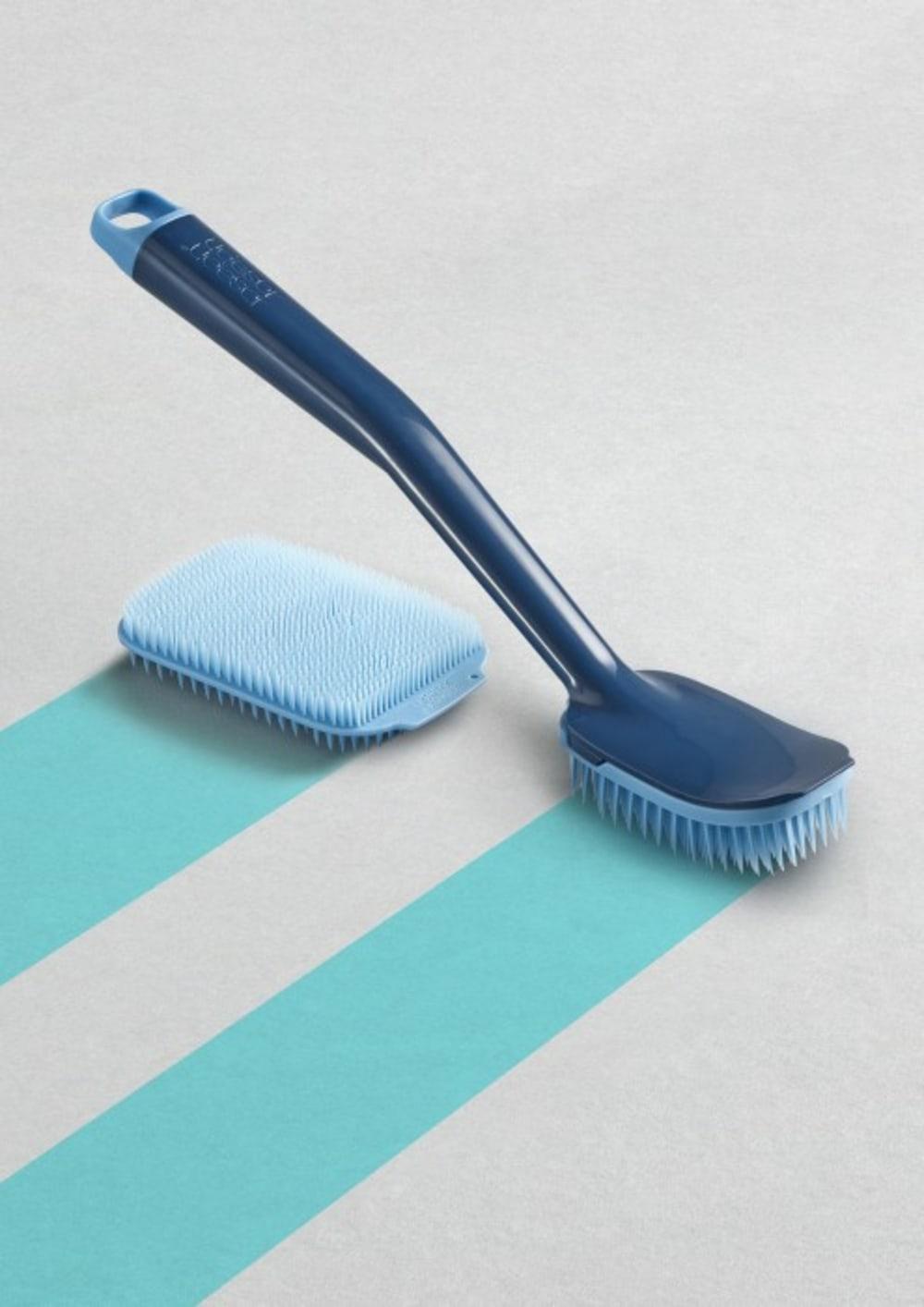 Szczotka do naczyń +zapas niebieska CleanTech