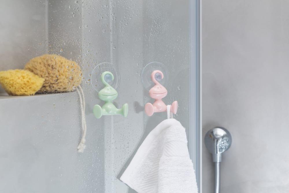 Wieszak łazienkowy Moritz niebieski