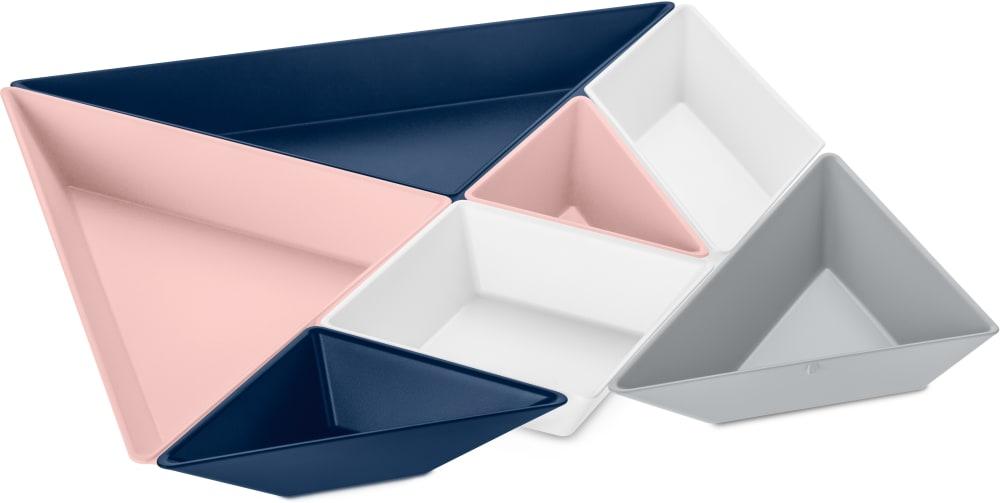 Tacka na przekąski Tangram redy różowo-niebieska