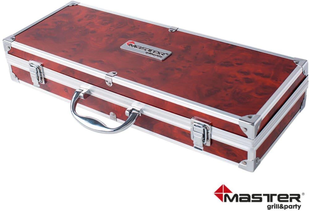 Zestaw akcesoriów do grillowania w walizce