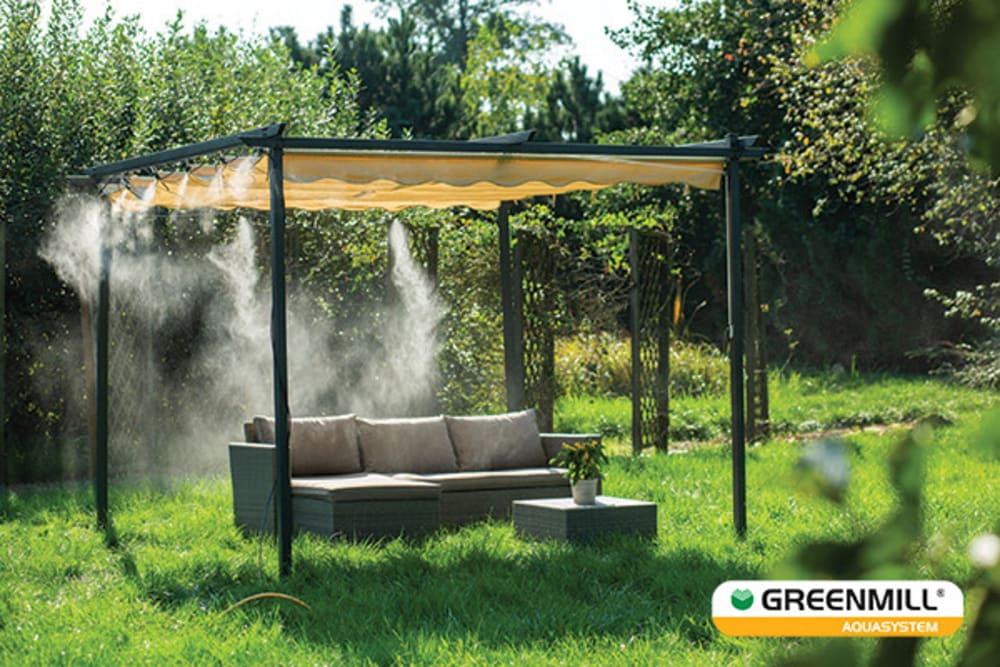 Kurtyna wodna zraszacz prysznic ogrodowy mgiełka ogrodowa do ogrodu 15m Greenmill