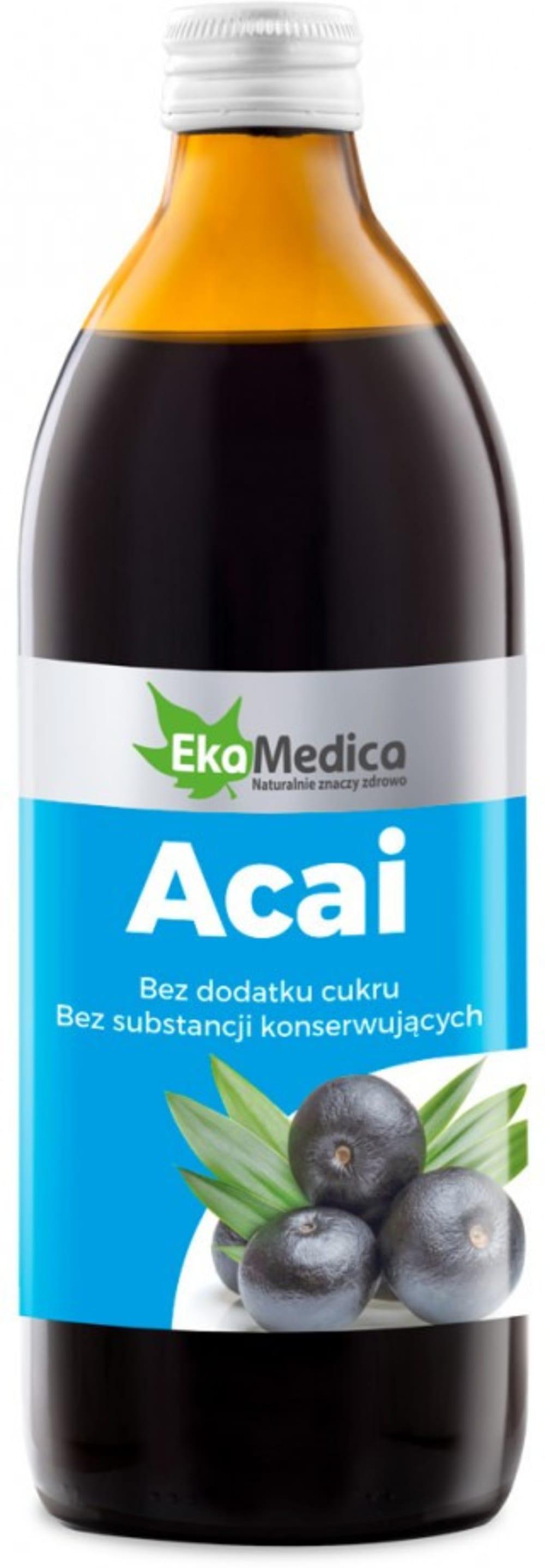 Soku 100% z owoców Acai 0,5l