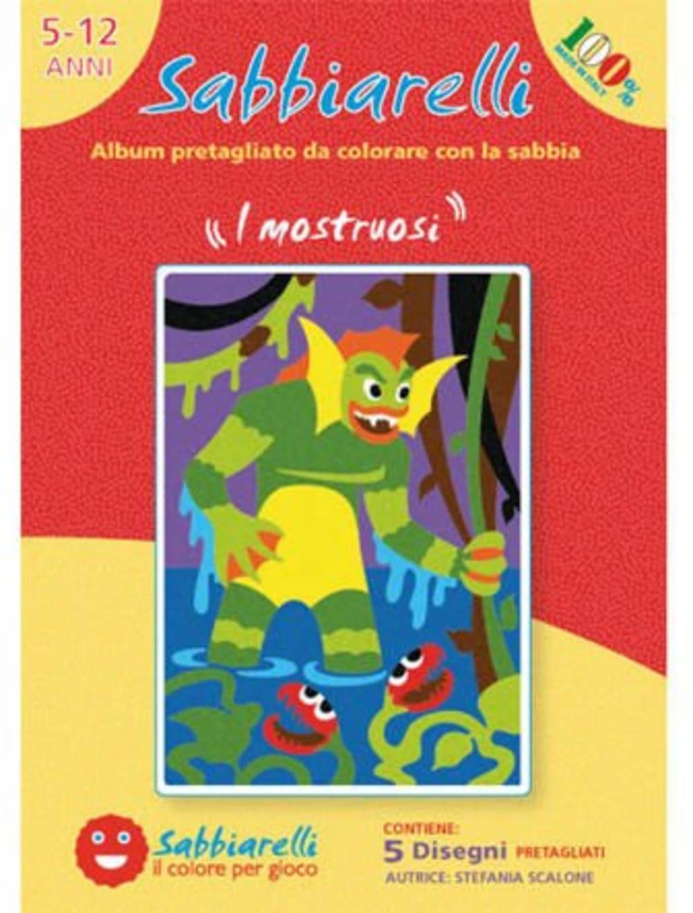 Album do Kolorowania Magicznym Piaskiem, Potwory, 5l+