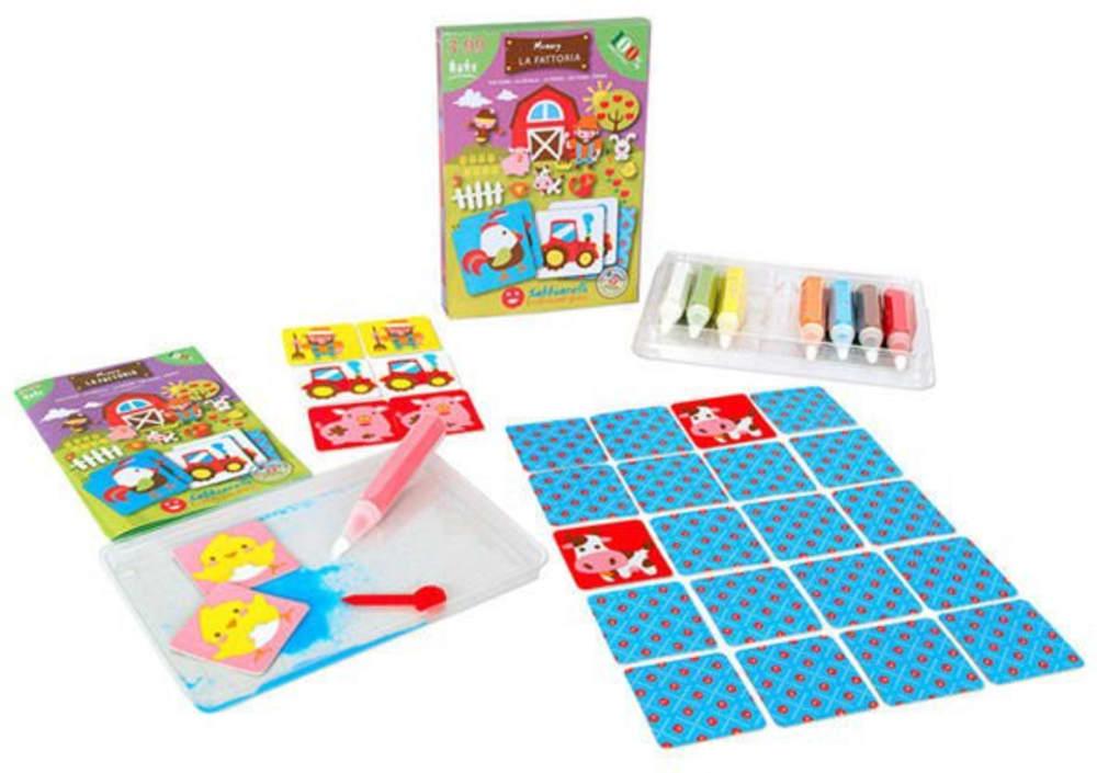 Magiczny piasek do kolorowania, Smart Kit Memory, Farma, 3l+
