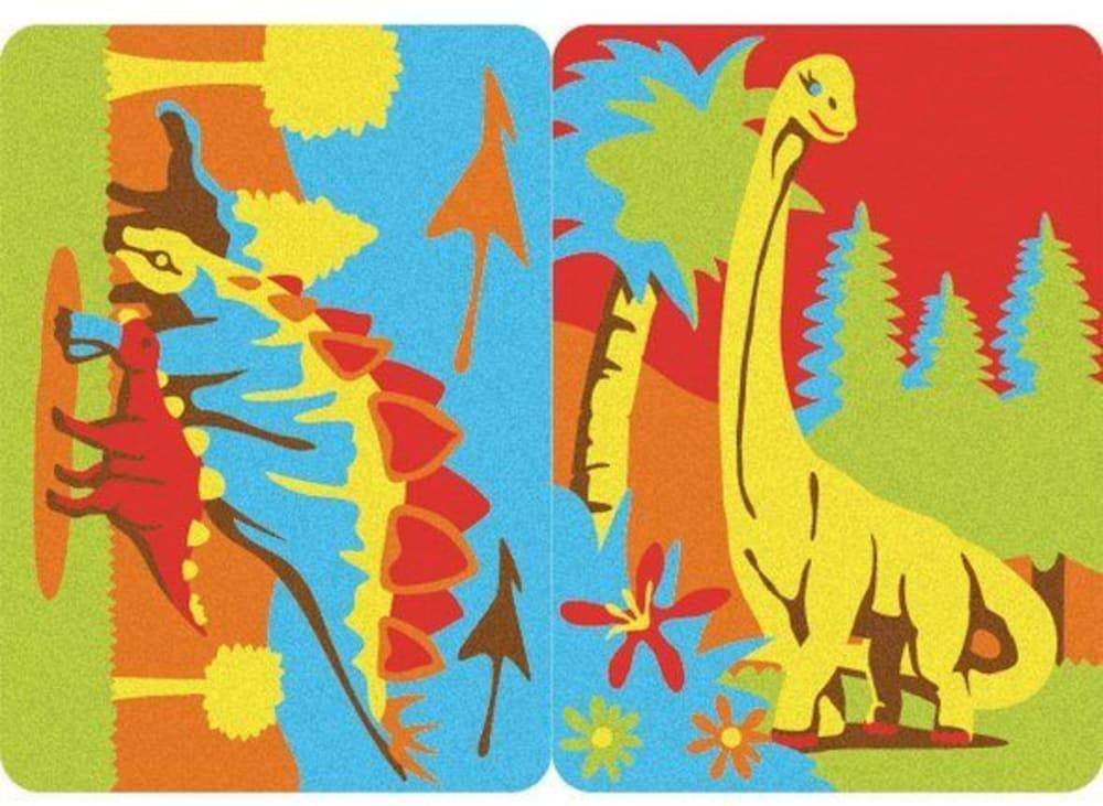 Magiczny piasek do kolorowania, Mini Kit, DinoSand, 5l+
