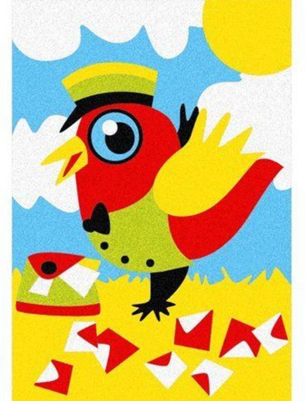Magiczny piasek do kolorowania, Mini Kit, zwierzęta, 3l+