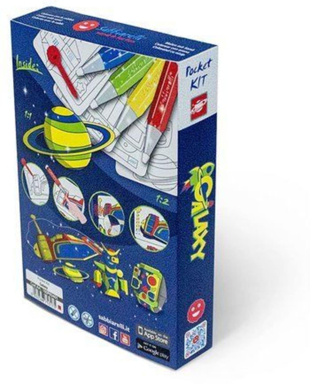 Magiczny piasek do kolorowania, Pocket Kit, Galaxy, 5l+