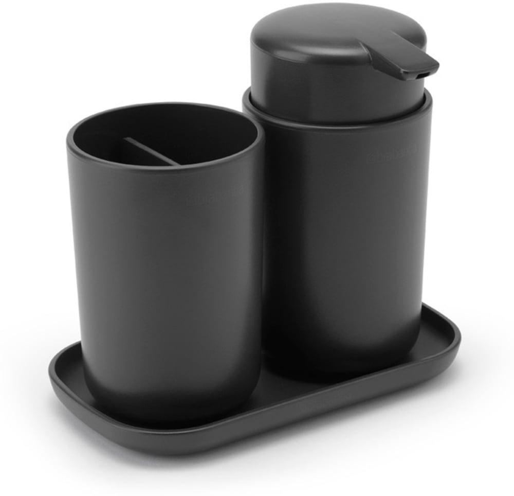 Brabantia zestaw akcesoriów łazienkowych ReNew ciemnoszary 3 szt.