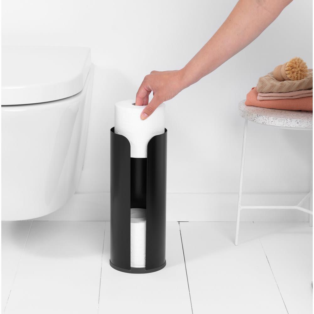 Brabantia zasobnik na papier toaletowy ReNew czarny mat