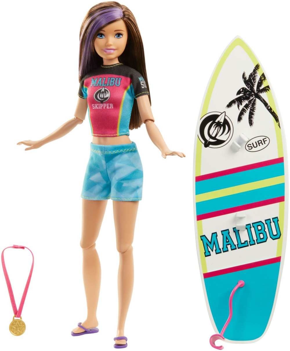 Lalka Barbie Skipper Surferka z deską