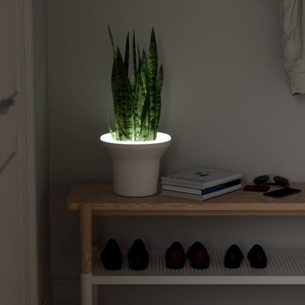 Doniczka podświetlana LED, biała, ORA