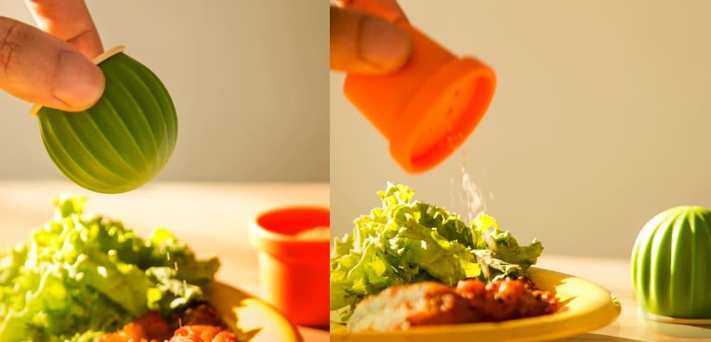 Shaker do soli i pieprzu Cactus zielony