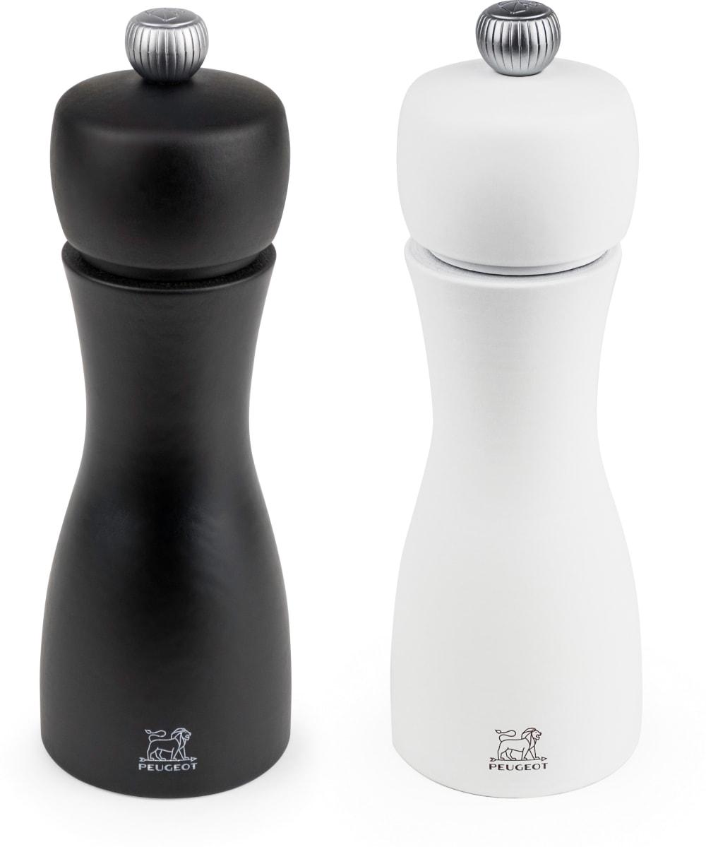 TAHITI Zestaw młynków do soli i pieprzu 15 cm biały/czarny