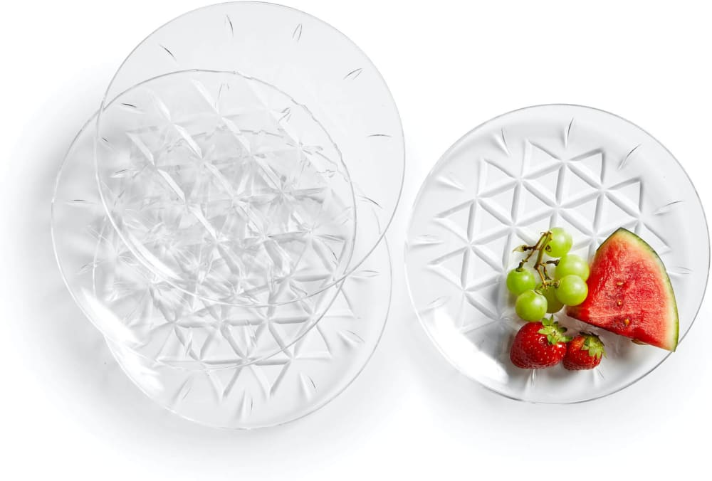 Zestaw talerzy piknikowych przezroczysty akryl 20 cm 4 szt.