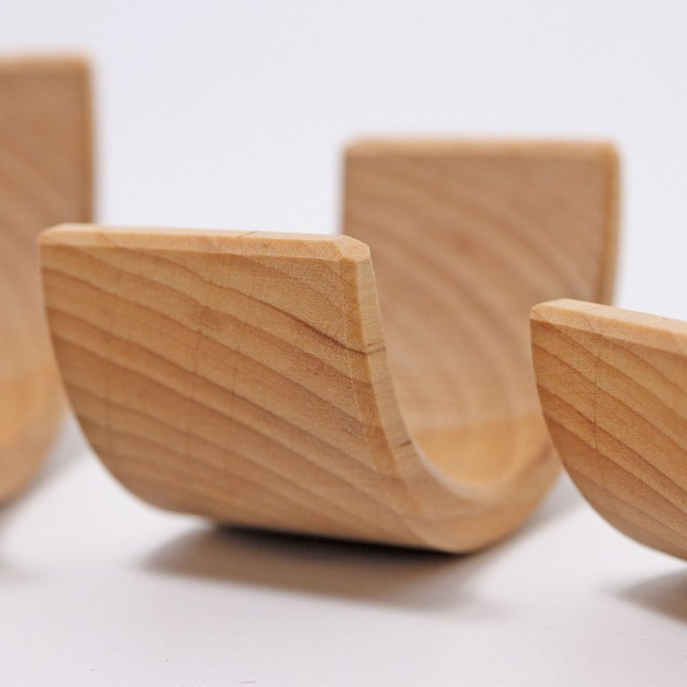 Drewniana Tęcza 6-elementowa 3+, naturalna, Grimm's
