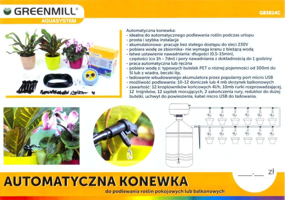Automatyczna konewka do podlewania roślin