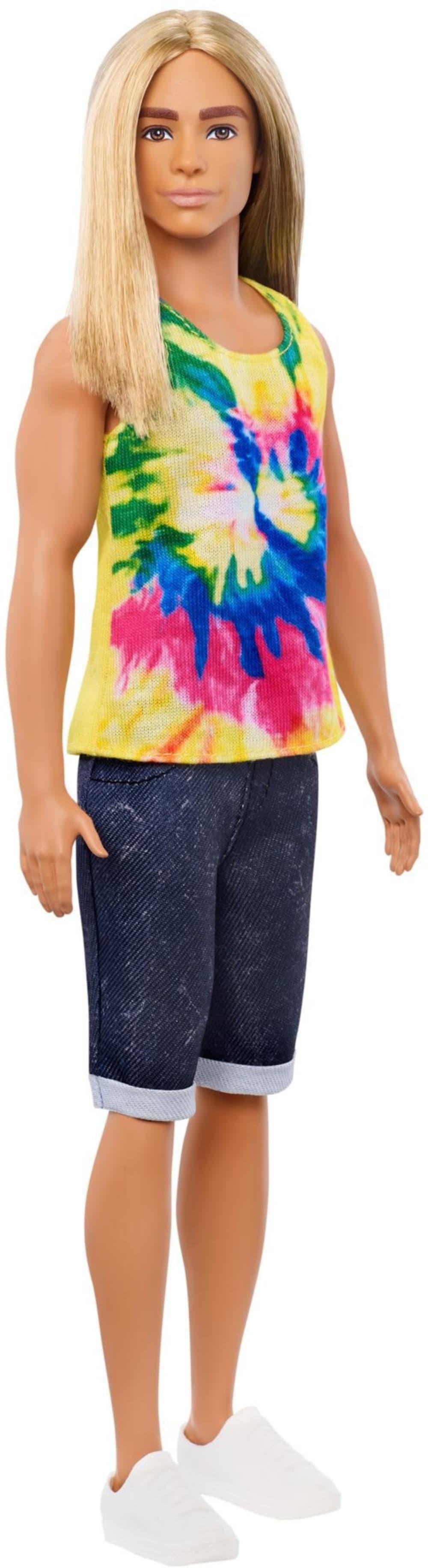 Barbie Stylowy Ken z długimi włosami