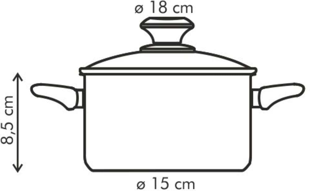 Garnek PRESTO z pokrywką ø 18 cm, 2.0 l, powłoka antyadhezyjna