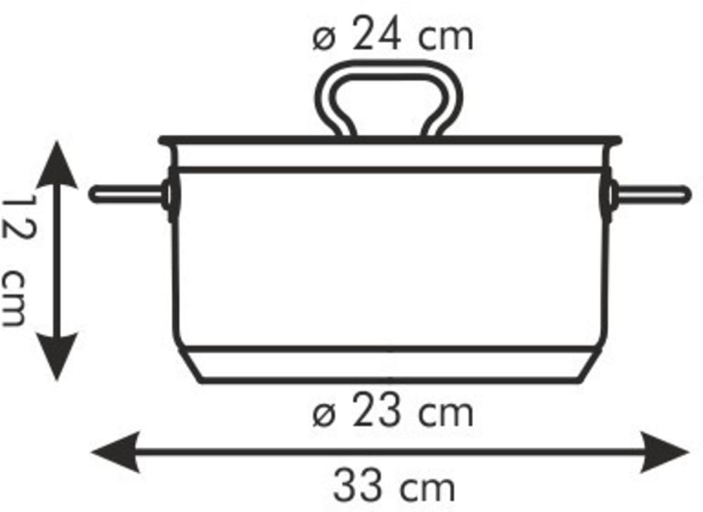 Garnek HOME PROFI z pokrywką ø 24 cm, 5.0 l