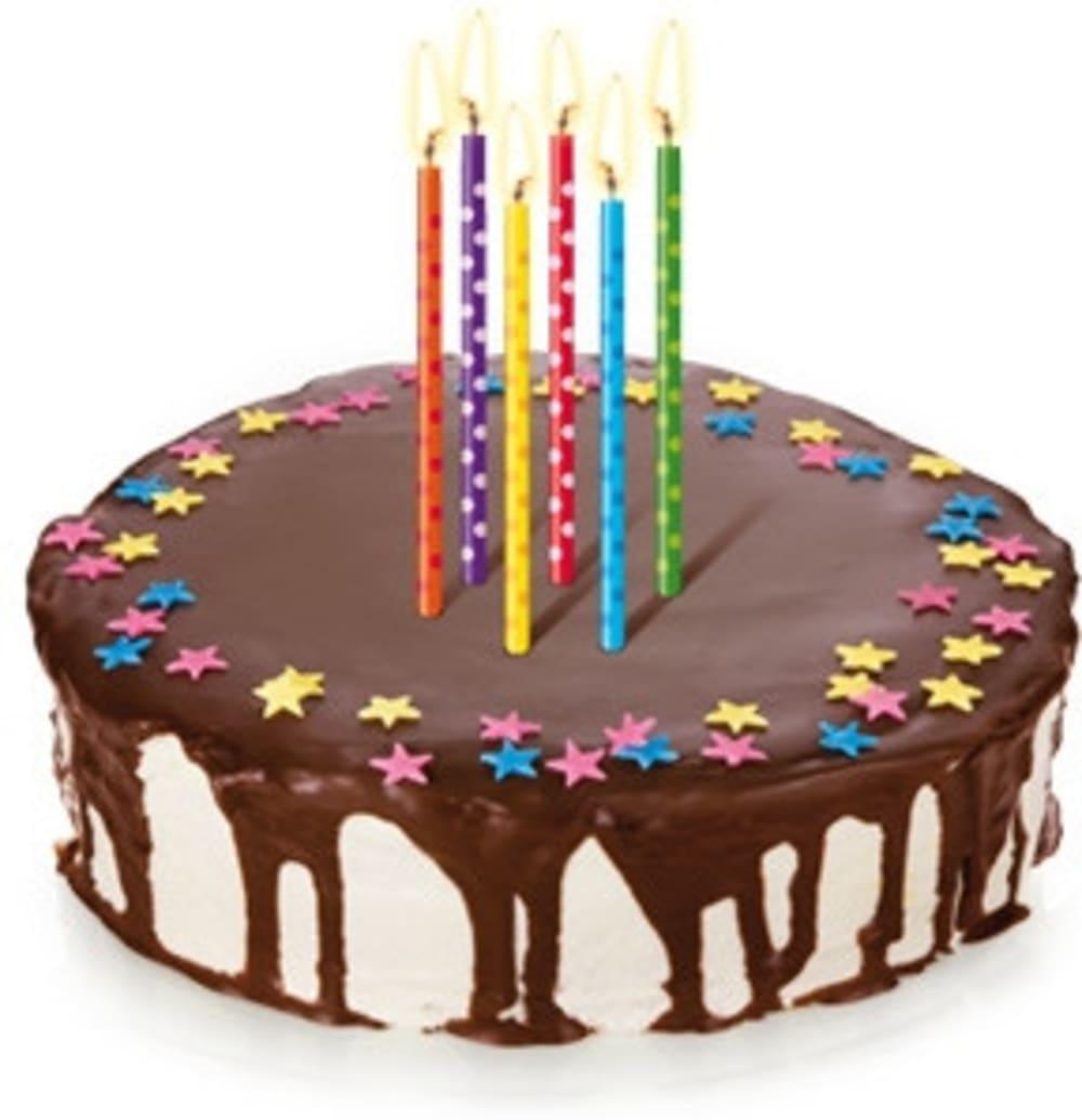 Świeczki na tort DELÍCIA KIDS 10 cm, 12 szt