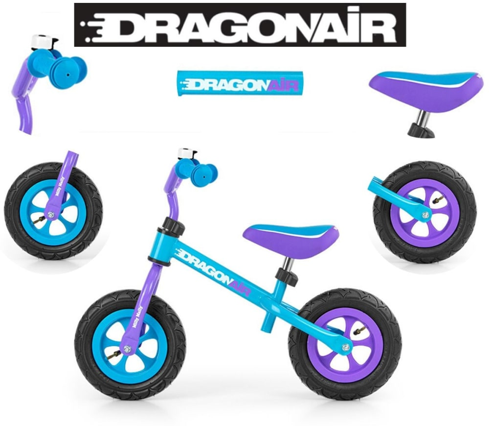 Rowerek Biegowy Dragon Air Turquoise Milly Mally