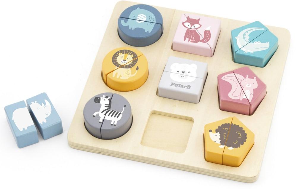 Zabawka drewniana. Układanka 2w1 Puzzle - kształty Viga